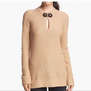 Tory Burch Mim Tunic Crew Neck Sweater
